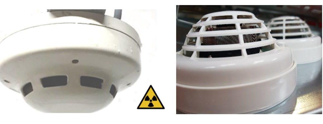 Retrait de détecteurs de fumée ioniques